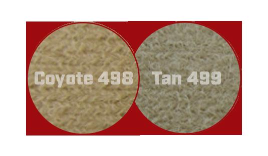 Tan 499 vs Coyote 498 Fabric